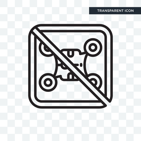 No drone zone vector icon isolated on transparent background
