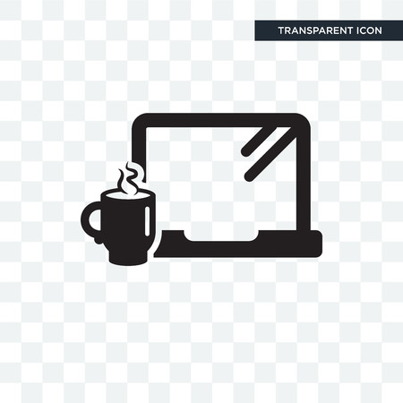 Morning Work vector icon isolated on transparent background