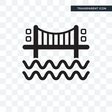 Bridges vector icon isolated on transparent background Illustration