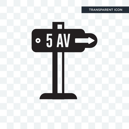 Fifth avenue vector icon isolated on transparent background