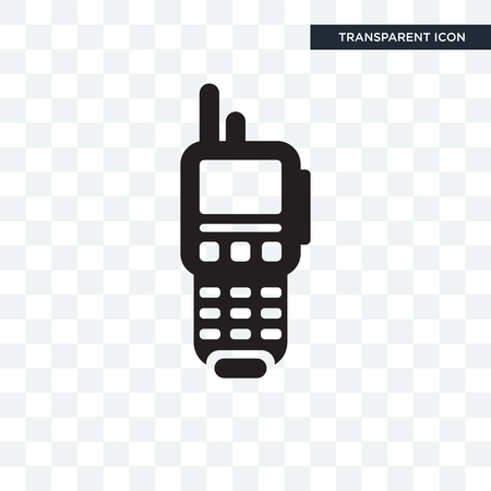 Walkie talkie vector icon isolated on transparent background
