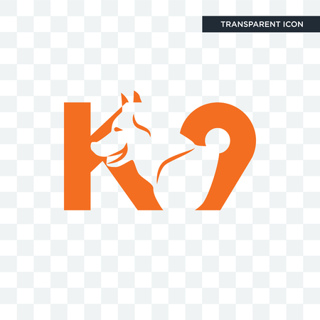 k9 vector icon isolated on transparent background