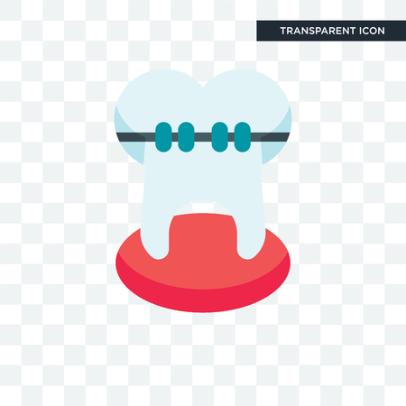 Braces vector icon isolated on transparent background 免版税图像 - 107407515