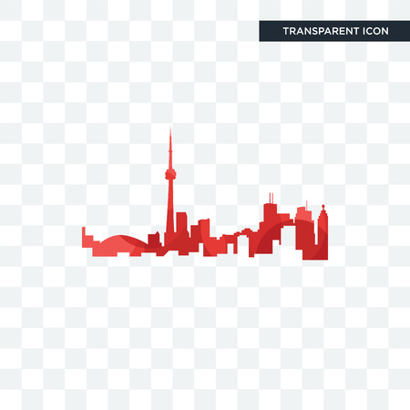 toronto skyline vector icon isolated on transparent background  イラスト・ベクター素材