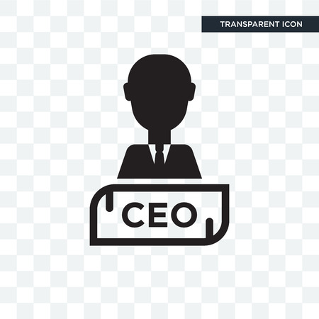 Chief Executive Officer vector icon isolated on transparent background Illustration