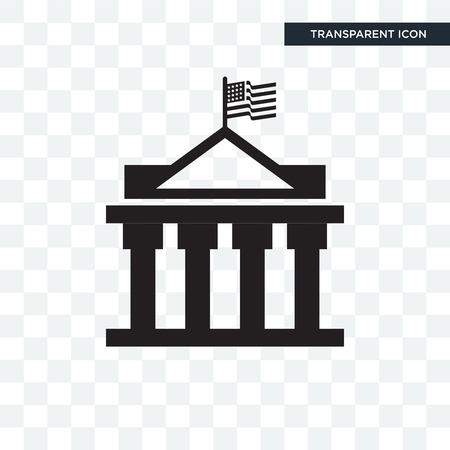 White house vector icon isolated on transparent background Illustration