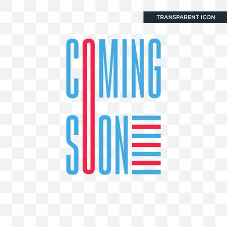 coming soon vector icon isolated on transparent background Illustration