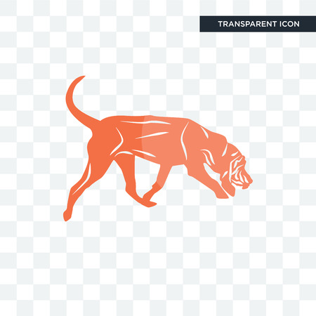 bloodhound vector icon isolated on transparent background