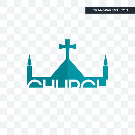 church vector icon isolated on transparent background Archivio Fotografico - 107409328