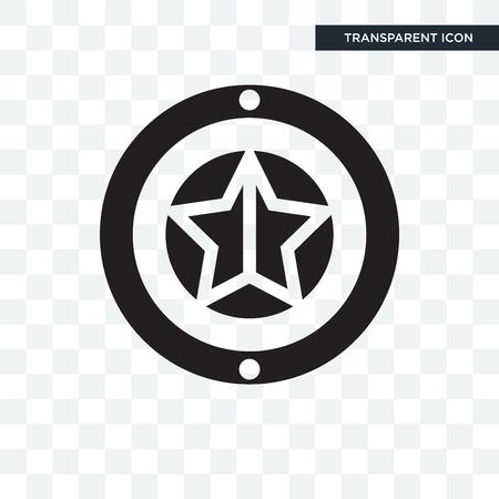 superhero shiled vector icon isolated on transparent background
