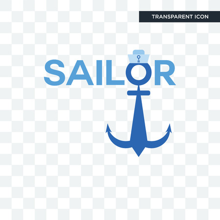 sailor vector icon isolated on transparent background