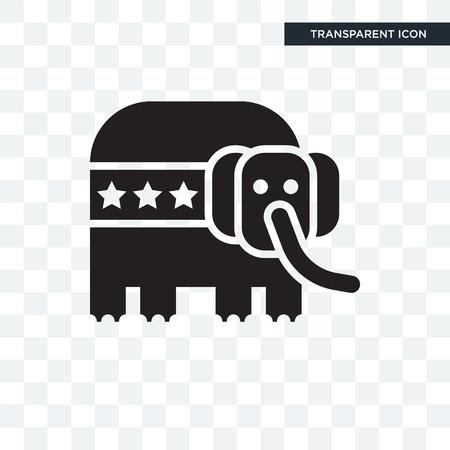 Icône de vecteur républicain isolé sur fond transparent, concept logo républicain Logo