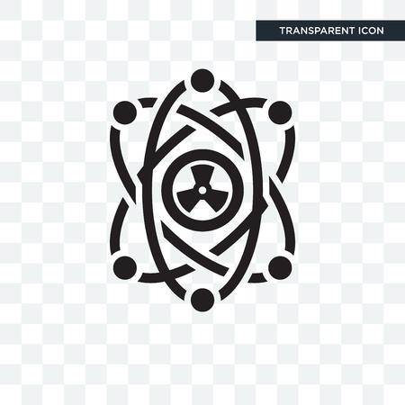 Nukleares Vektorsymbol isoliert auf transparentem Hintergrund, nukleares Logokonzept