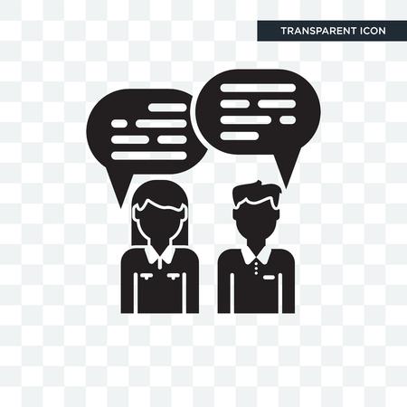 Chat-Vektor-Symbol lokalisiert auf transparentem Hintergrund, Chat-Logo-Konzept