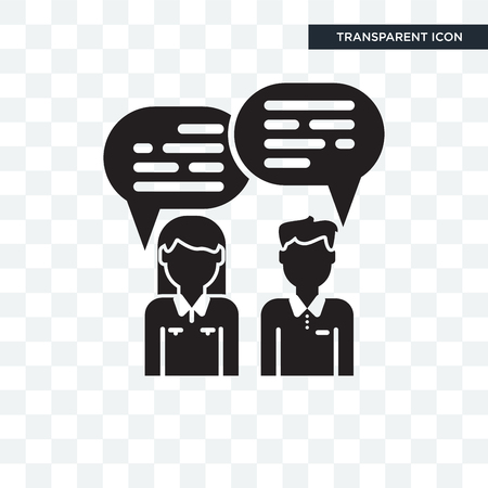 Chatting vector icon isolated on transparent background, Chatting logo concept Çizim