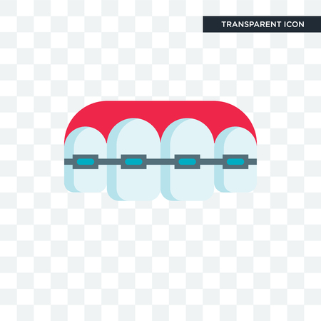 Braces vector icon isolated on transparent background, Braces logo concept 矢量图像