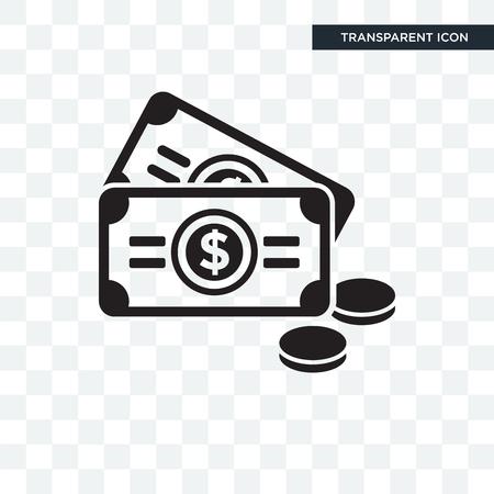 Money vector icon isolated on transparent background, Money logo concept Illustration