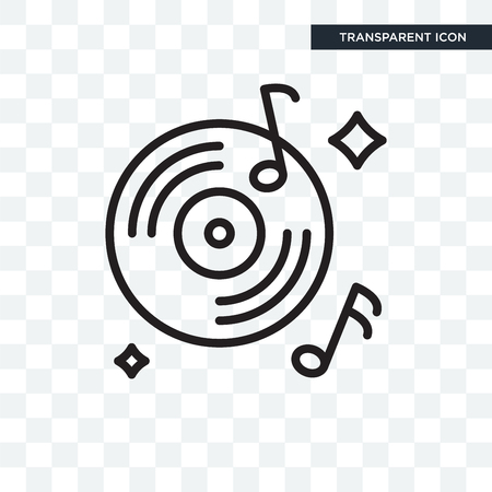 Record vector icon isolated on transparent background, Record logo concept