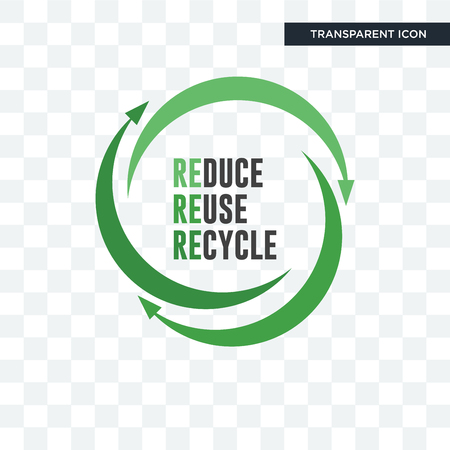 uce reuse recycle vector icon isolated on transparent background, uce reuse recycle logo concept Illustration