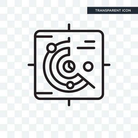 radar vector icon isolated on transparent background, radar logo concept
