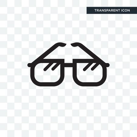 Vintage Eyeglasses vector icon isolated on transparent background, Vintage Eyeglasses logo concept