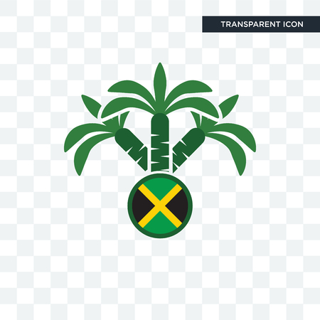 jamaican vector icon isolated on transparent background, jamaican logo concept Logo