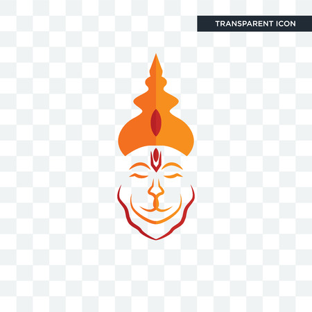 hanuman ji vector icon isolated on transparent background, hanuman ji logo concept