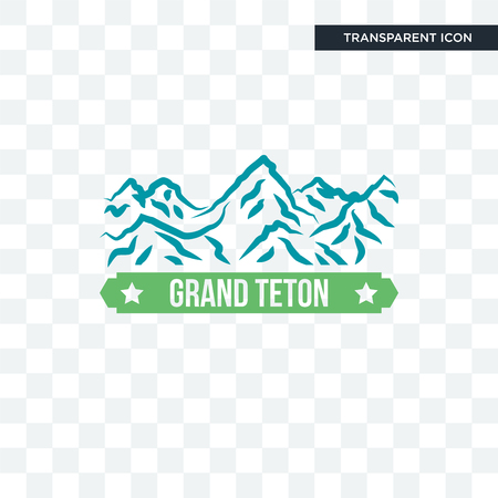 grand teton vector icon isolated on transparent background, grand teton logo concept