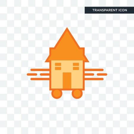 tiny house vector icon isolated on transparent background, tiny house logo concept Logo