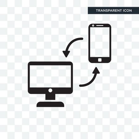 Sharing Media vector icon isolated on transparent background, Sharing Media logo concept Illustration