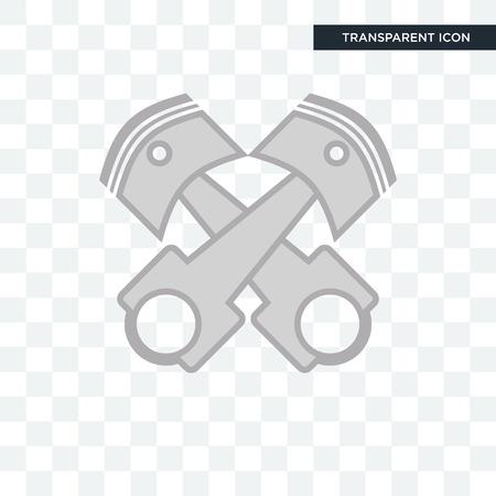 piston log vector icon isolated on transparent background, piston log logo concept