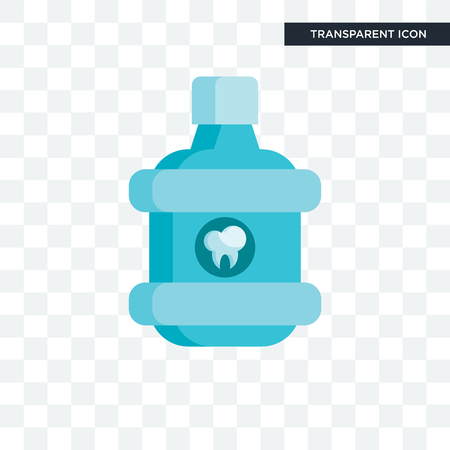 Mouthwash vector icon isolated on transparent background, Mouthwash logo concept