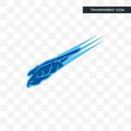 falco pellegrino icona vettore isolato su sfondo trasparente, concetto di marchio del falco pellegrino