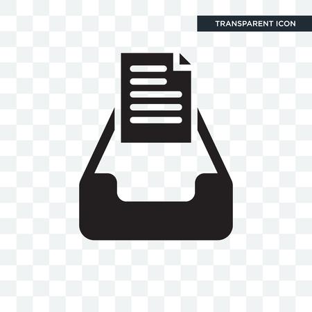 Icône de vecteur de boîte de réception mail isolé sur fond transparent, concept logo Mail Inbox