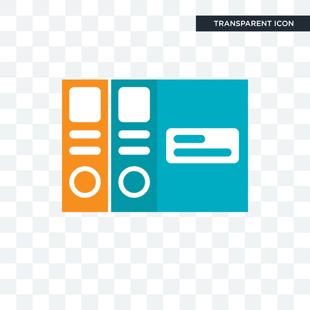 Folders vector icon isolated on transparent background, Folders logo concept