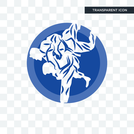 jiu jitsu vector icon isolated on transparent background, jiu jitsu logo concept