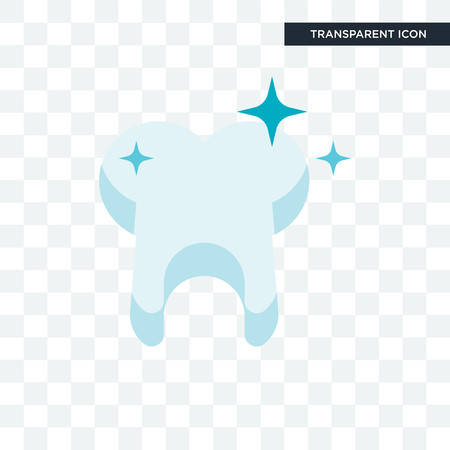 Tooth vector icon isolated on transparent background, Tooth logo concept Çizim