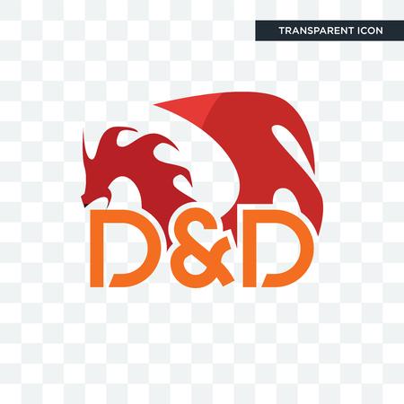 kerkers en draken vector pictogram geïsoleerd op transparante achtergrond, kerkers en draken logo concept