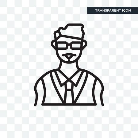 Bodyguard vector icon isolated on transparent background, Bodyguard logo concept Stock Illustratie