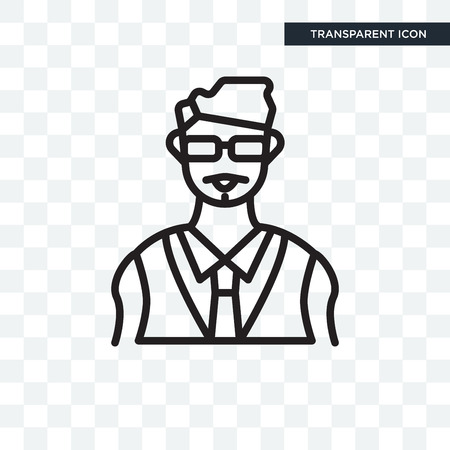Bodyguard vector icon isolated on transparent background, Bodyguard logo concept Illustration