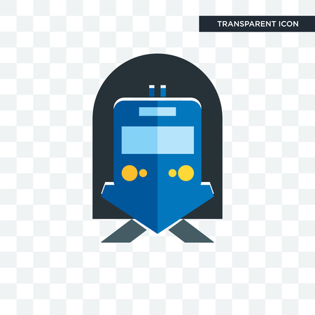 train station vector icon isolated on transparent background, train station logo concept
