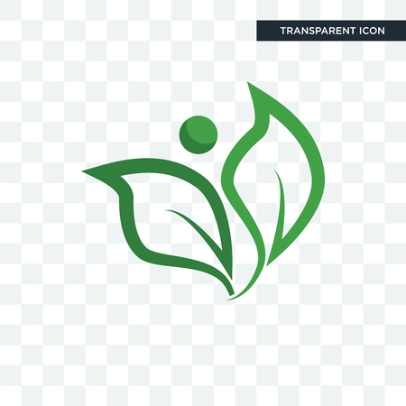 leaf vector icon isolated on transparent background, leaf logo concept