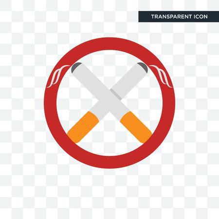 non smoking vector icon isolated on transparent background, non smoking logo concept