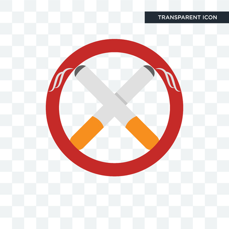 non smoking vector icon isolated on transparent background, non smoking logo concept Imagens - 107455051