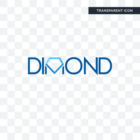 dimond vector icon isolated on transparent background, dimond logo concept Banco de Imagens - 107455052