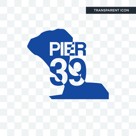 pier 39 vector icon isolated on transparent background, pier 39 logo concept Stock Vector - 107455198