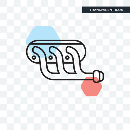 Pipe vector icon isolated on transparent background, Pipe logo concept