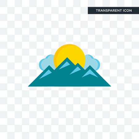 mountain vector icon isolated on transparent background, mountain logo concept Logo