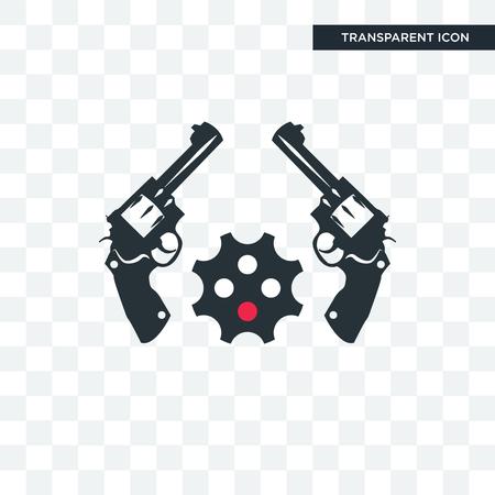 revolver vector icon isolated on transparent background, revolver logo concept Illustration