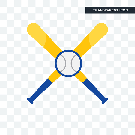 baseball team vector icon isolated on transparent background, baseball team logo concept Illustration